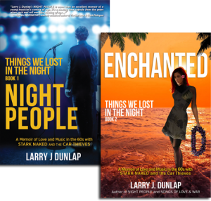 Night People & Enchanted, books from Things We Lost in the Night by Larry J. Dunlap